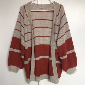 Society Amuse Striped Oversized Sweater